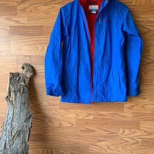 Columbia  Omni-Tech Rain Jacket Boys Large Blue